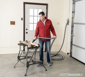 Vacuuming With Vroom Retract Vac Work Bench Garage