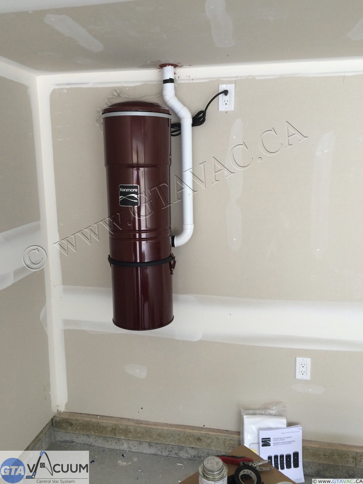 Kenmore Central Vacuum GTA Vacuum Recent Project Gallery 1